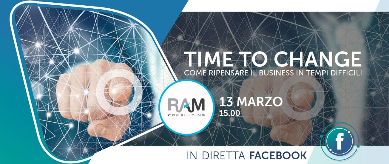 "Rivedi il webinar Time to Change ""come ripensare il Business in tempi difficili"""