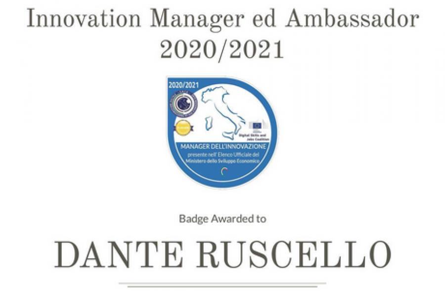 Un Innovation Manager d'eccellenza in casa RAM – Dante Ruscello